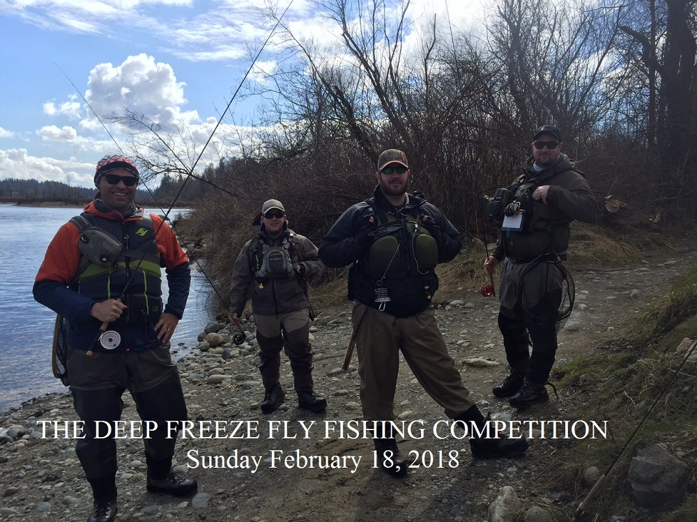 The deep freeze fly fishing competition february 18 2018 for Fly fishing competitions